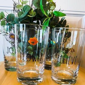 Rae Dunn Glassware Set   NWOT